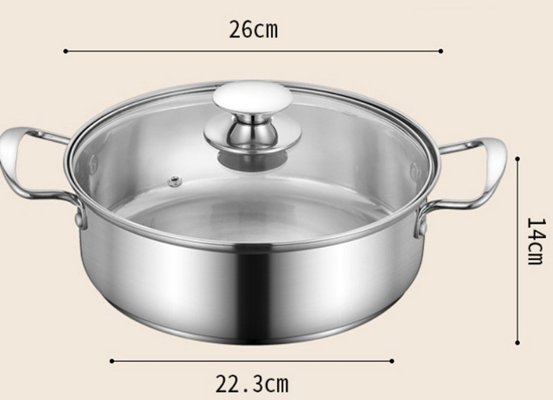 stainless steel pot  sets with glass lids a003 5