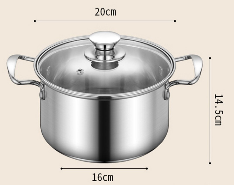 stainless steel pot  sets with glass lids a003 7