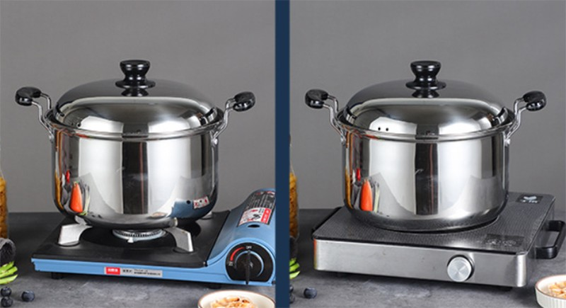 stainless steel soup stock pots buckets with lid a001 5